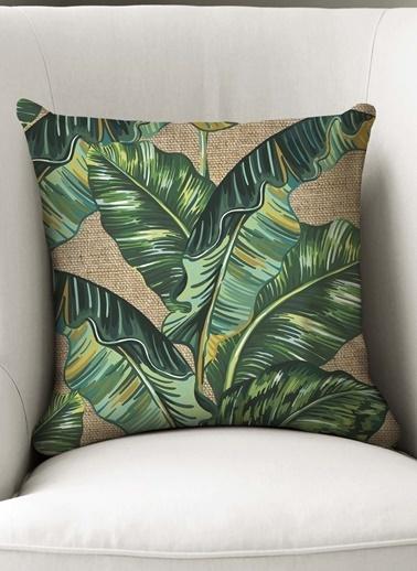 Lyn Home & Decor Jüt Muz Yaprağı Yastık Kılıfı Renkli